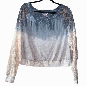 Hard Tail Lace gradient tye dye sweater blouse. M